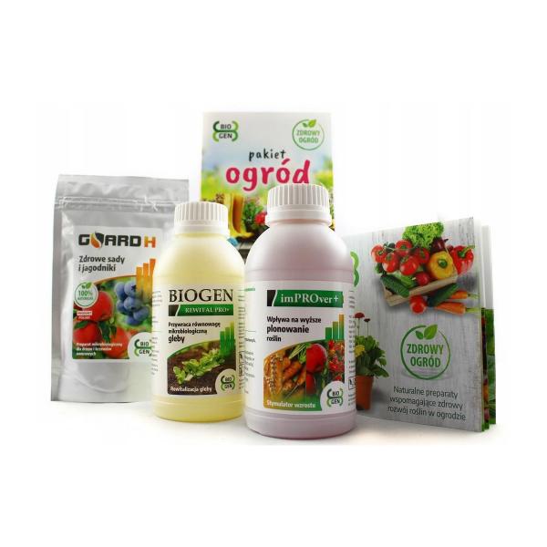 naturalny regenerator i wzmacniacz do roślin uprawianych w ogrodzie (pakiet 3 produktów mikrobiologicznych)