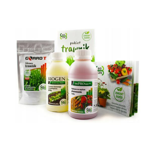 naturalny regenerator i wzmacniacz do trawników (pakiet 3 produktów mikrobiologicznych)